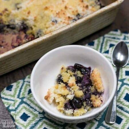 Low carb sugar free blueberry cobbler