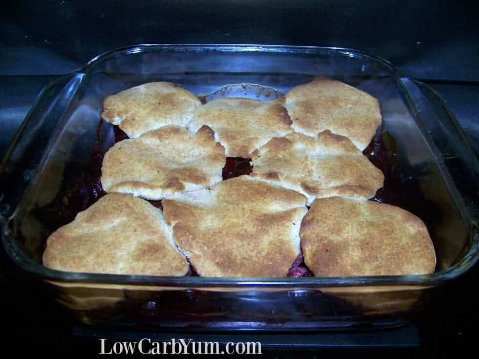 Low carb gluten free cherry cobbler