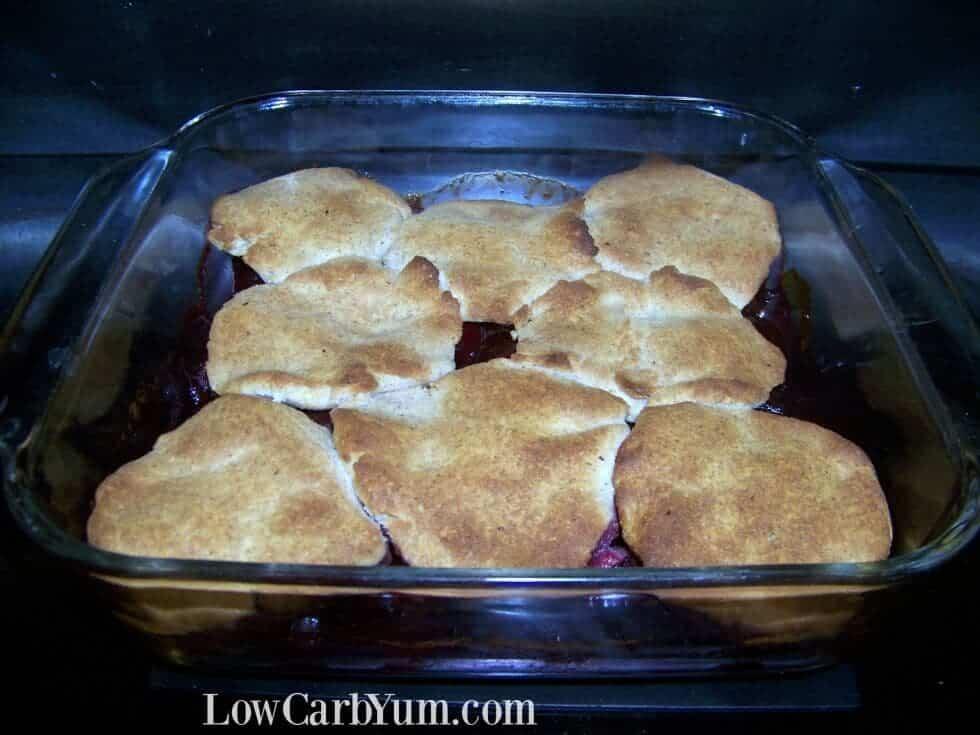Low carb gluten free cherry cobbler