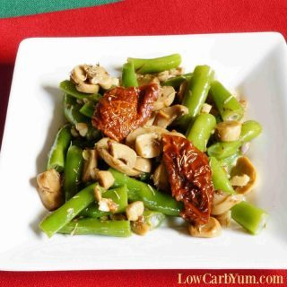 Sauteed Green Beans and Mushrooms with Sun Dried Tomatoes