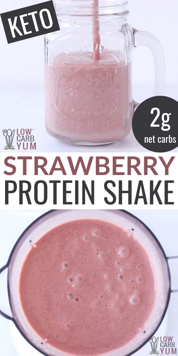 keto strawberry protein shake