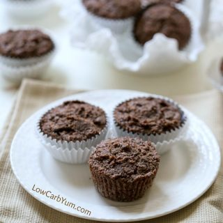 Gluten Free Chocolate Zucchini Muffins – No Sugar Added