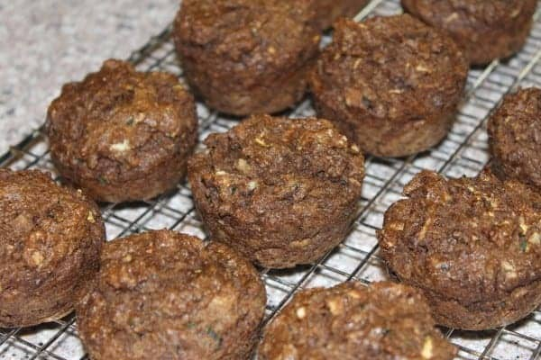 How about baking some of your extra garden zucchini into tasty low carb chocolate zucchini muffins? They make a nice grab and go snack.