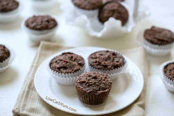 Gluten free chocolate zucchini muffins