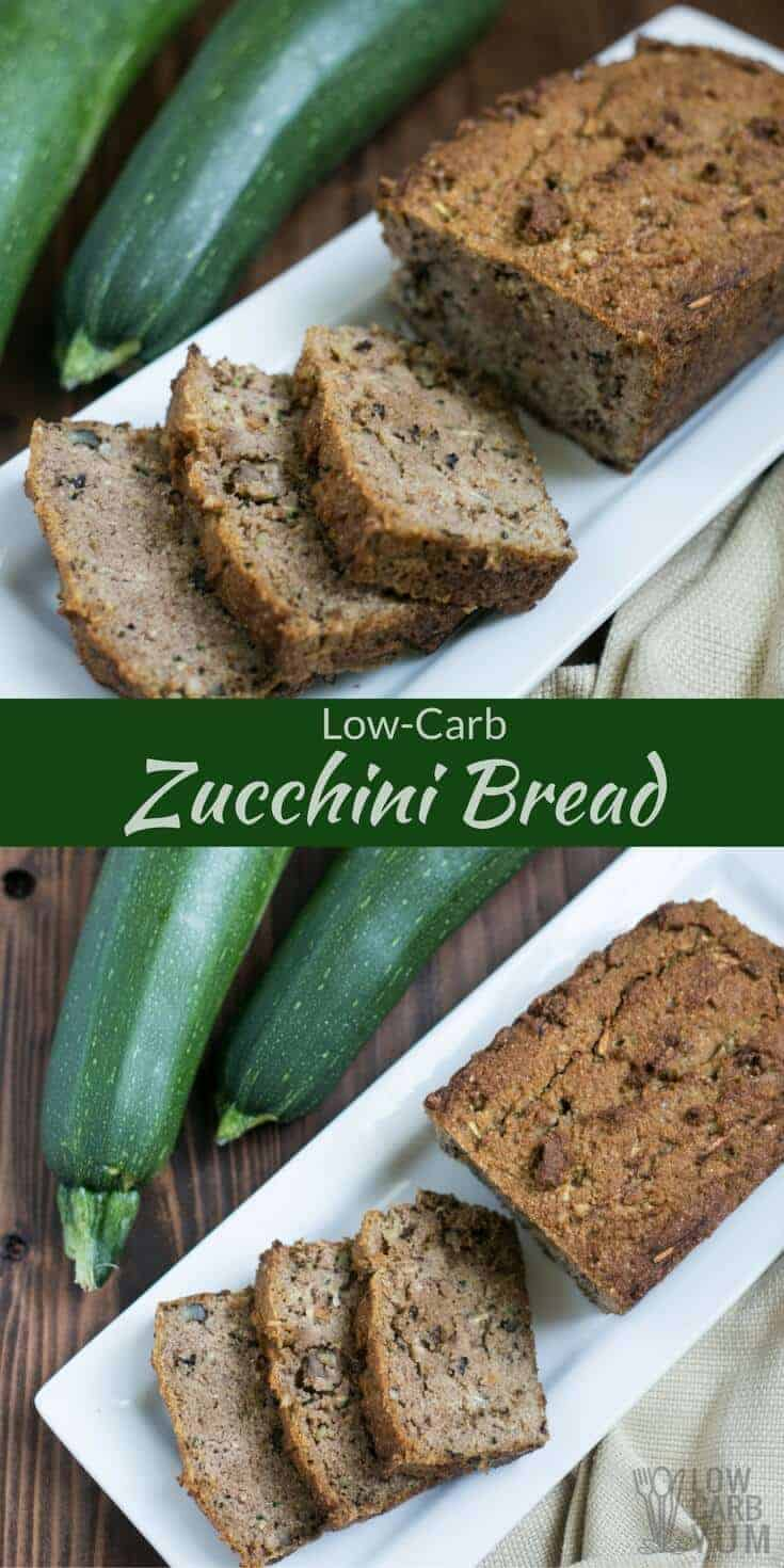 Low Carb Zucchini Bread - Gluten Free | Low Carb Yum