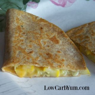 Yellow Squash Low Carb Quesadillas