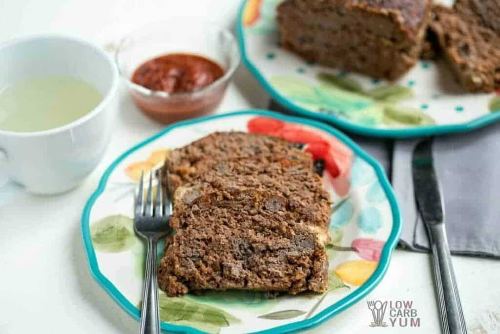 Low carb meatloaf recipe image