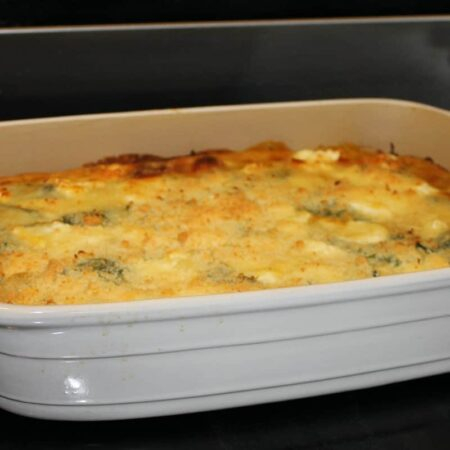 Pumpkin Lasagna with Spinach