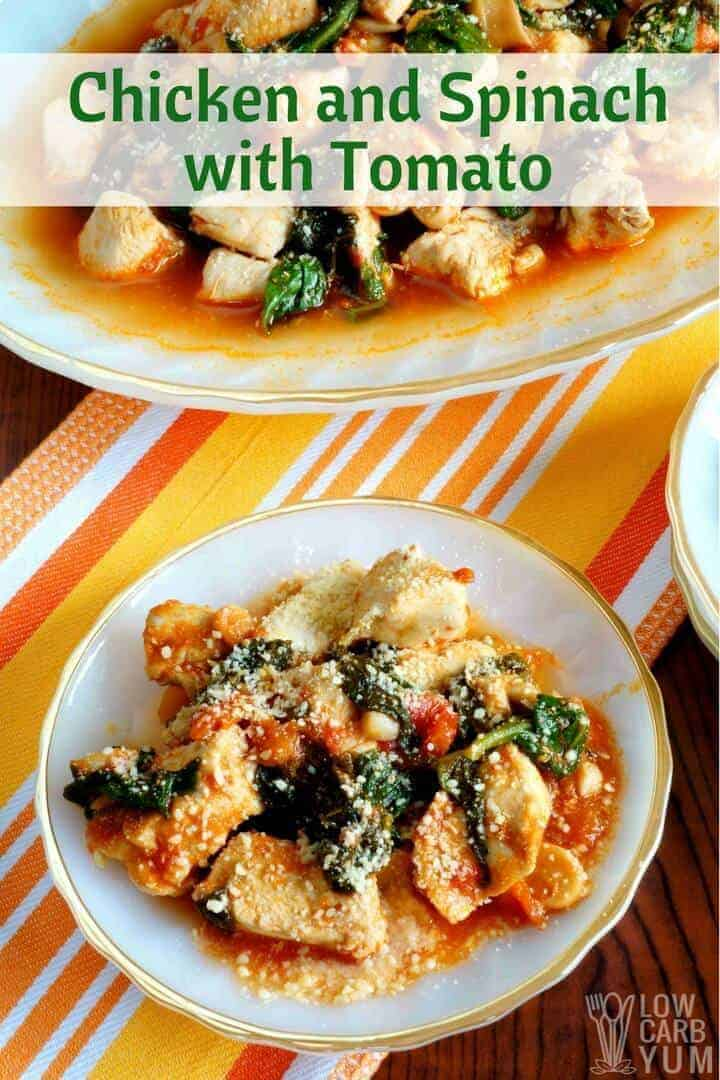One pot chicken spinach tomato recipe