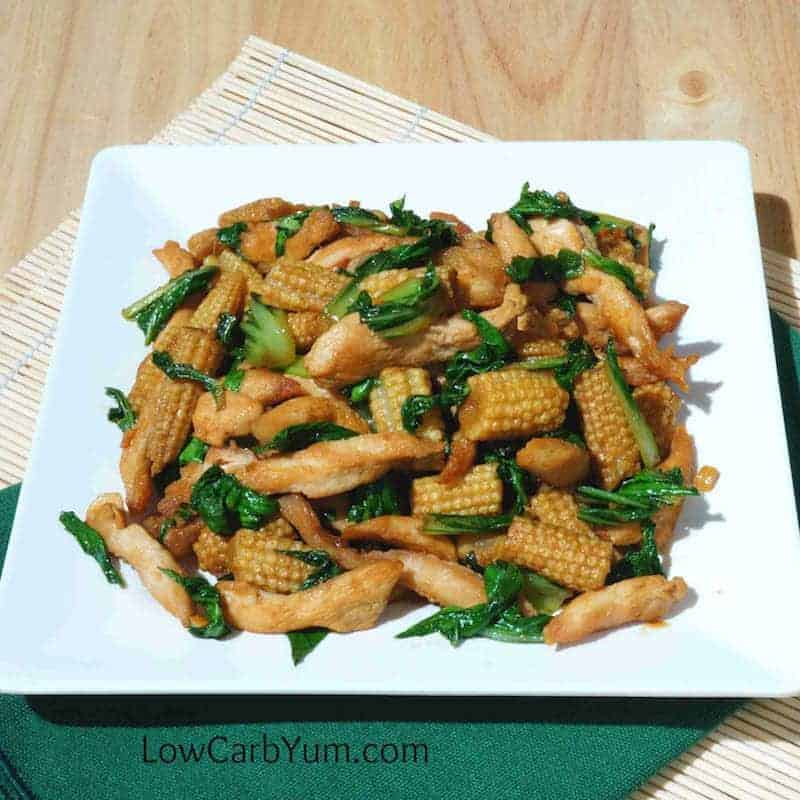 Chicken with Bok Choy and Baby Corn