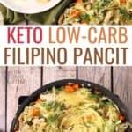 keto low carb Filipino pancit recipe