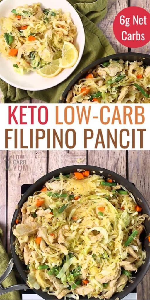 keto low carb Filipino pancit recipe