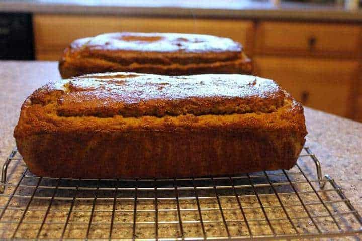 Low carb coconut flour pumpkin bread