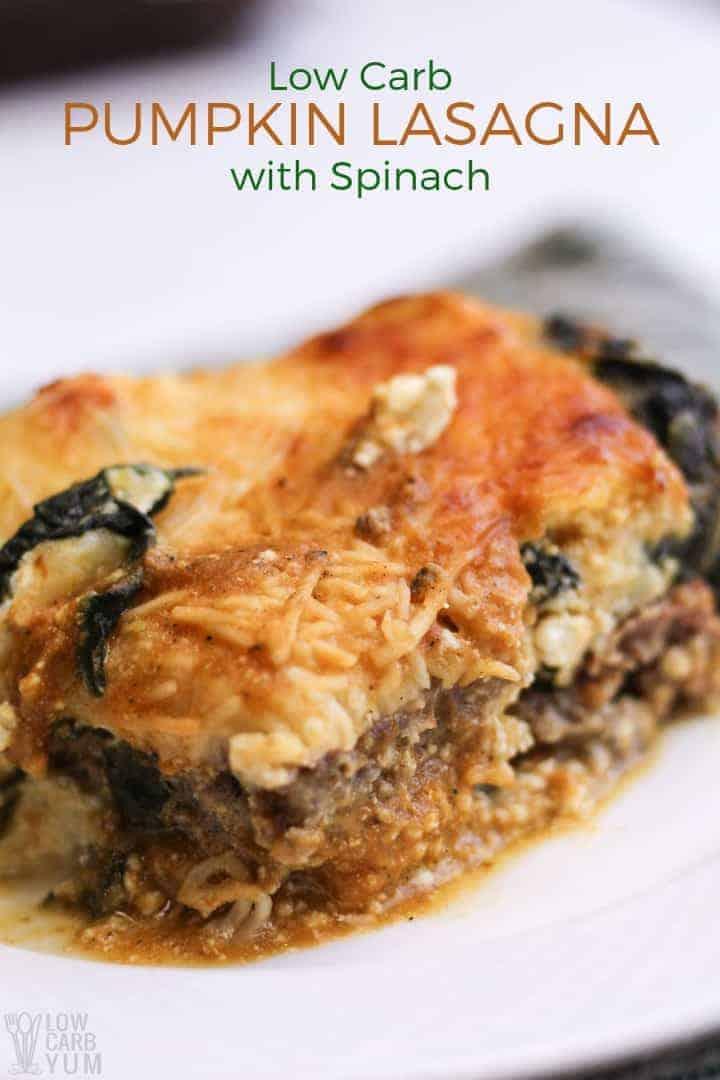 Savory pumpkin lasagna recipe