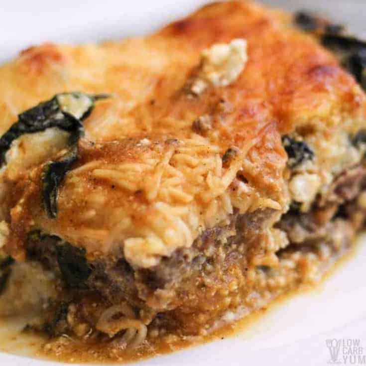 Pumpkin Lasagna Recipe with Spinach and Meatza