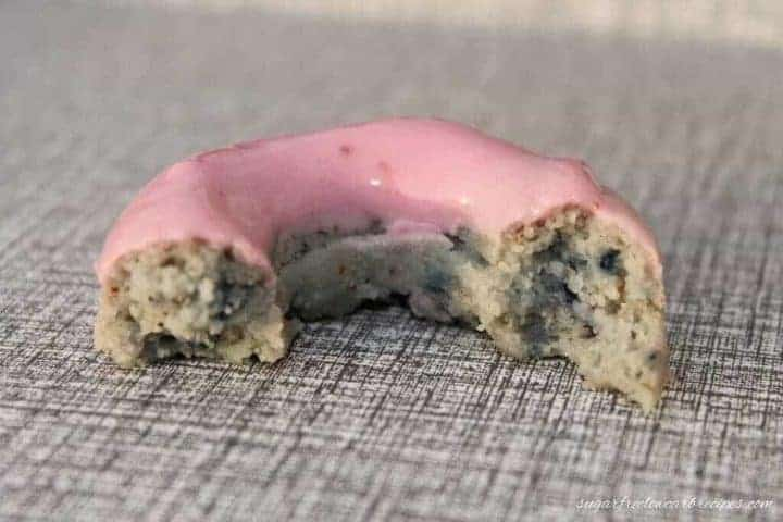 Low carb gluten free blueberry cake donut recipe
