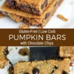 Low Carb Gluten Free Pumpkin Bars with Chocolate Chips Recipe