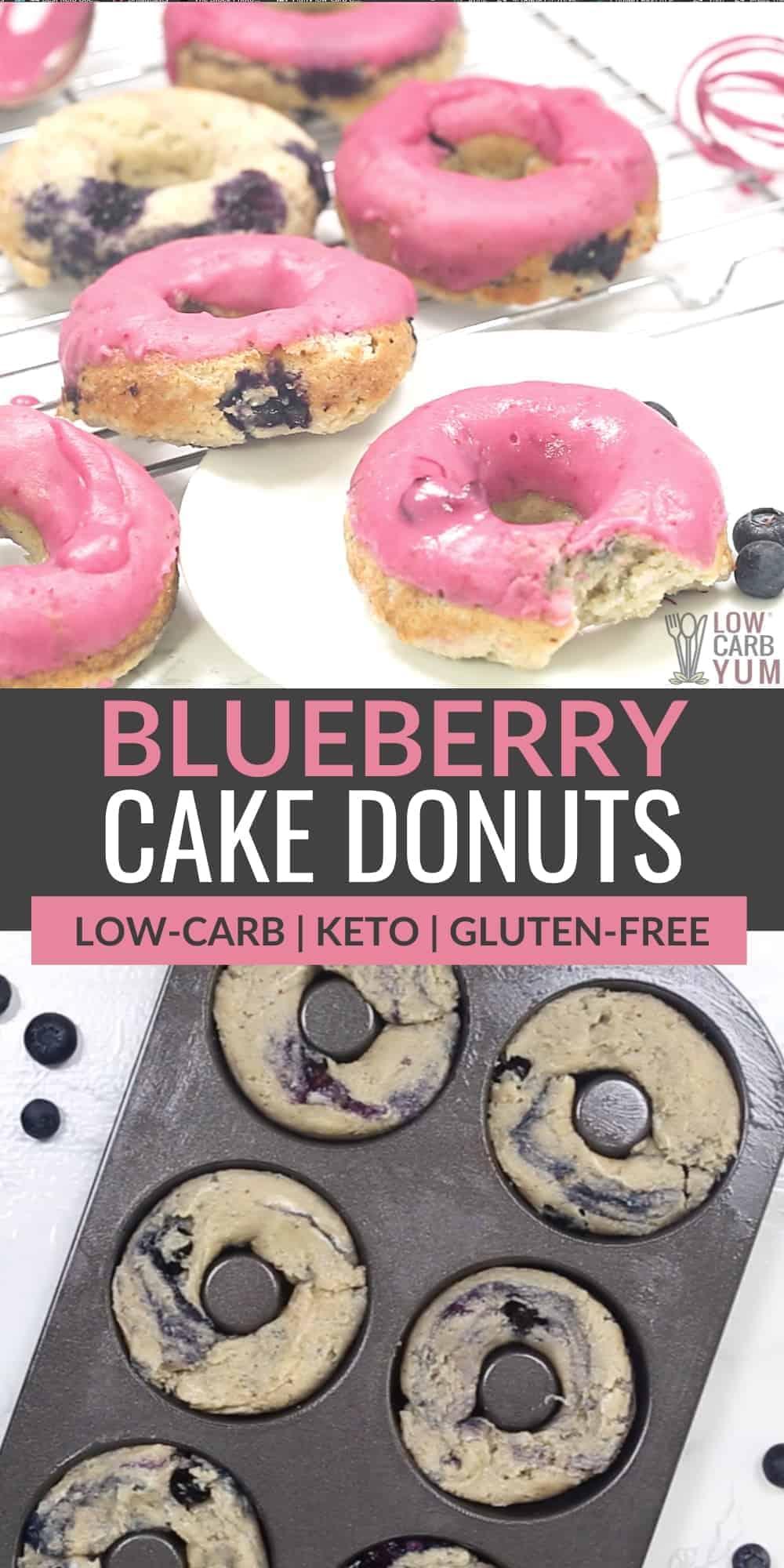 keto blueberry donuts pinterest image