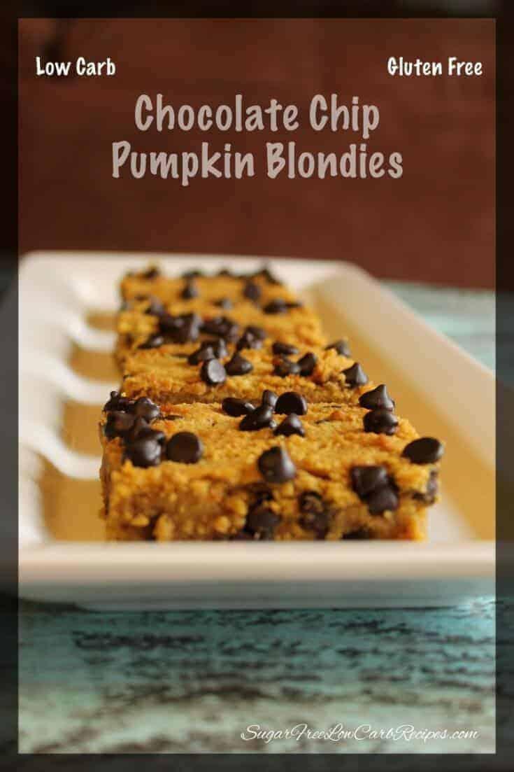 Chocolate chip pumpkin blondies
