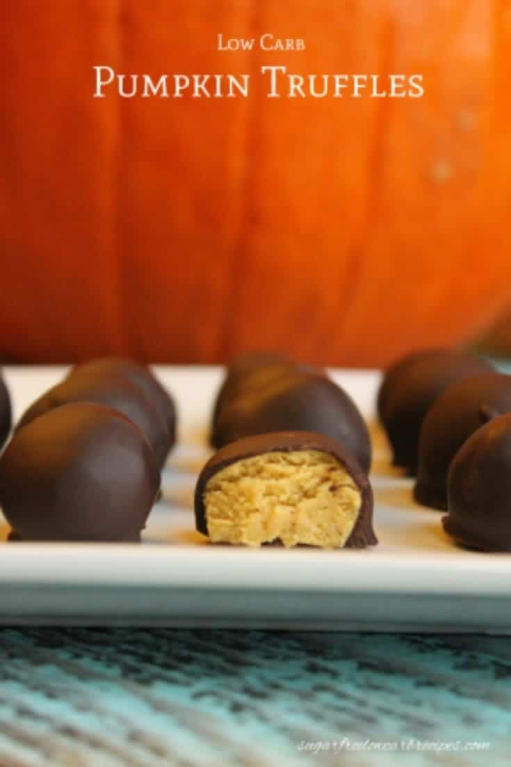 Low carb pumpkin truffle chocolate candy