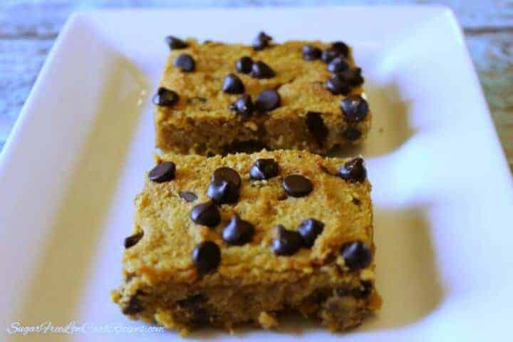 Gluten free pumpkin chocolate chip bars