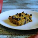Low carb pumpkin chocolate chip bars