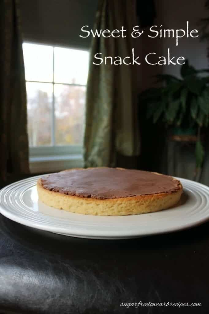 Simple gluten free low carb yellow cake