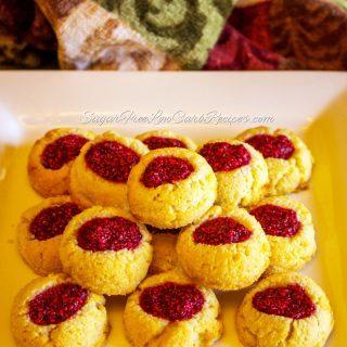 Raspberry Thumbprint Cookies – Low Carb Gluten Free