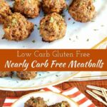 Nearly carb free meatballs recipe