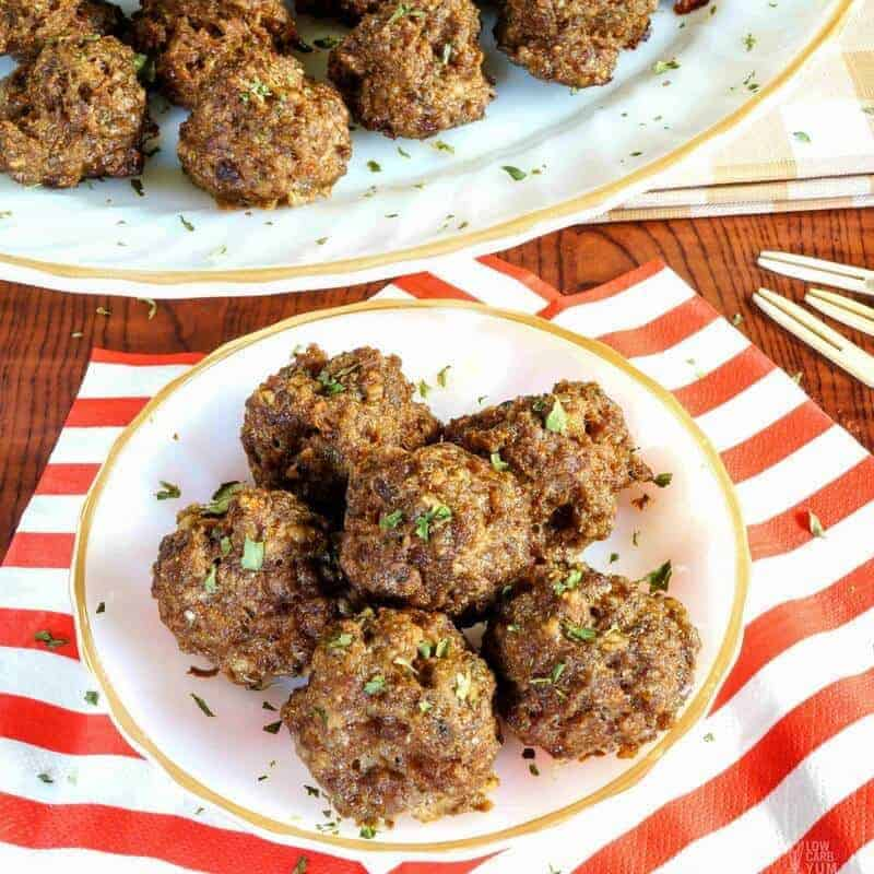 Nearly Carb Free Meatballs – Grain Free, Gluten-Free