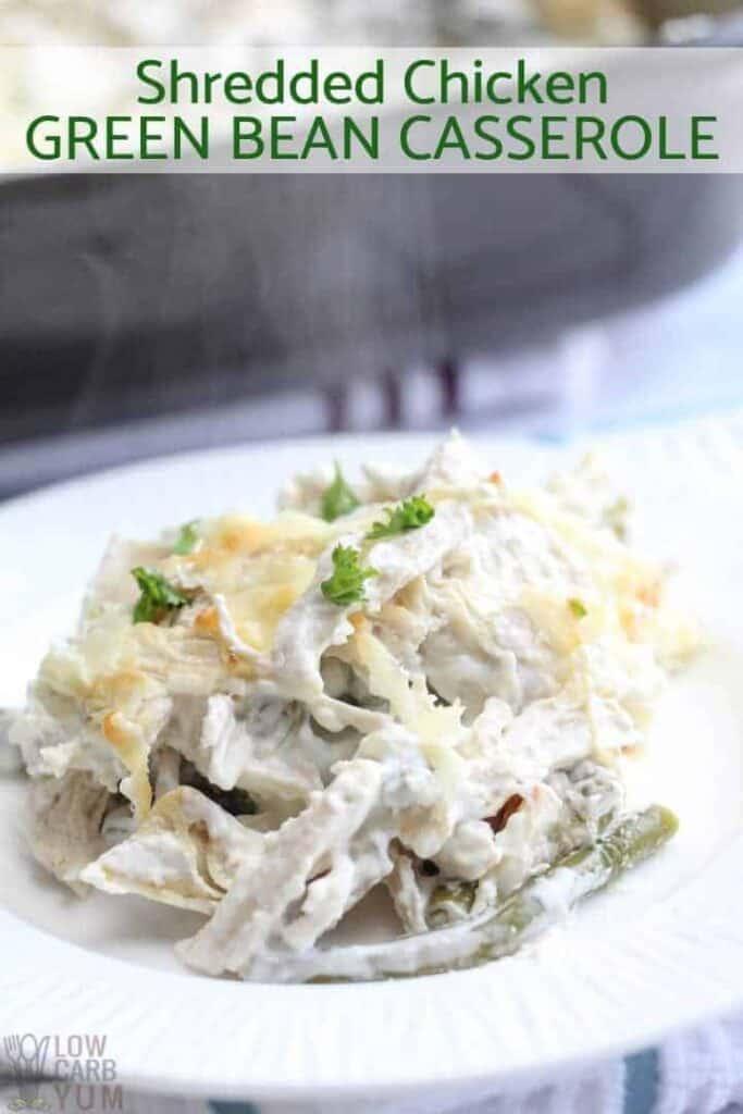 Shredded chicken green bean casserole recipe
