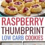 keto raspberry thumbprint cookies