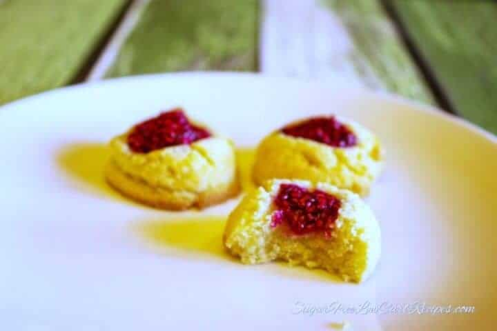 Low carb jam gluten free thumbprint cookies
