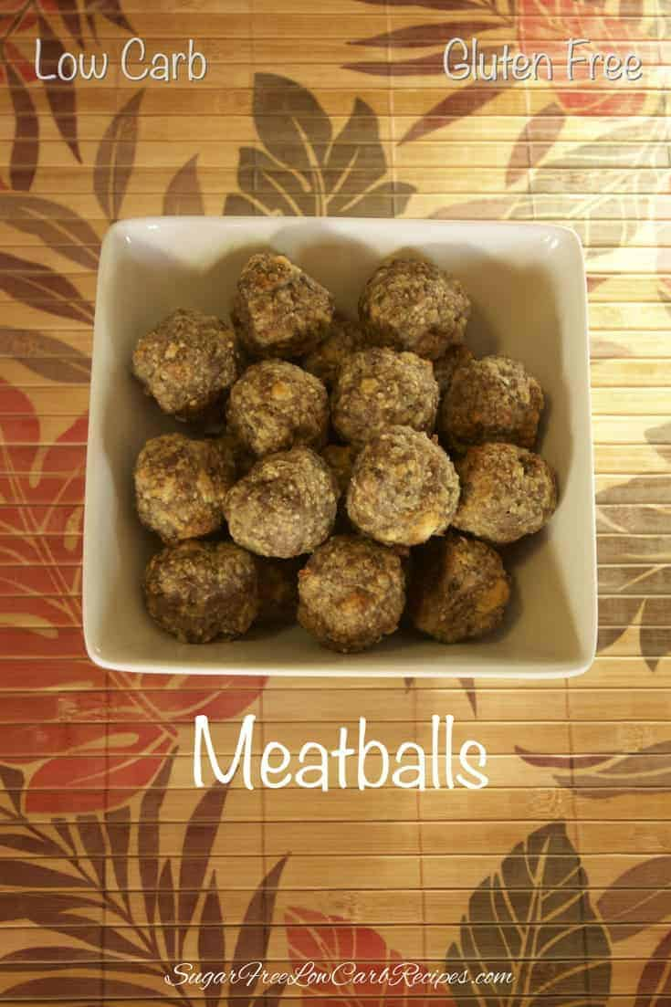 These gluten free meatballs can be served immediately or stored in the freezer to enjoy later. Serve these low carb meatballs with marinara sauce and cheese.