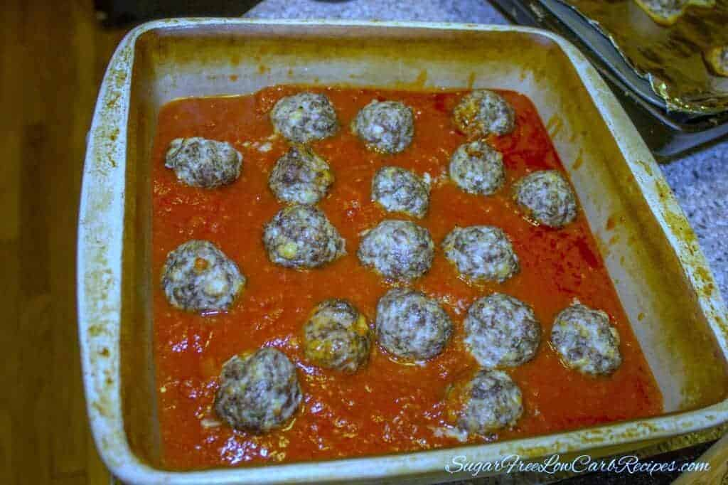 Meatball parmesan low carb gluten free
