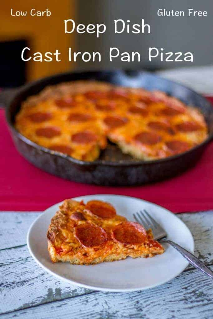 Enjoy this Chicago style low carb deep dish pizza while sticking to your low carb and gluten free diet. If you like thick crust pizza, look no further!