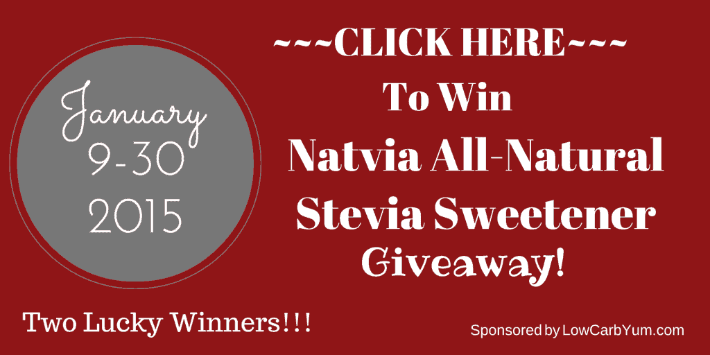Natvia Stevia Sweetener Giveaway