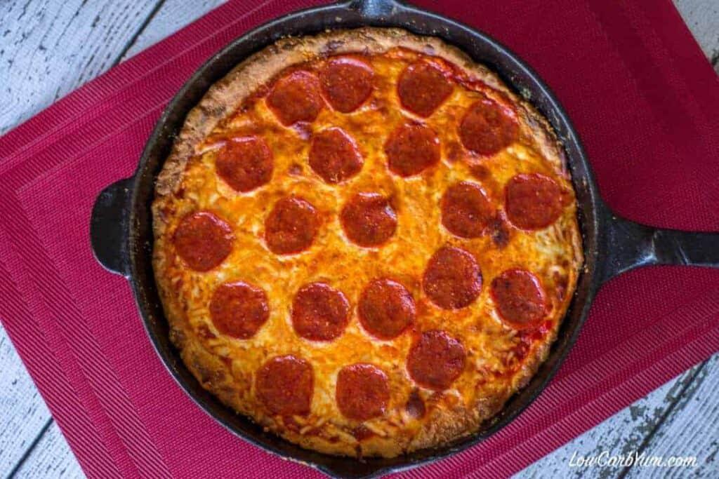 Deep Dish Cast Iron Pan Pizza - Gluten Free  Low Carb Yum
