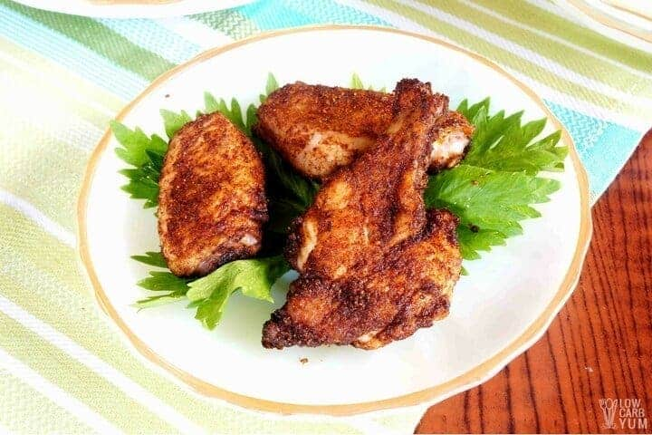 Easy oven baked dry rub chicken wings