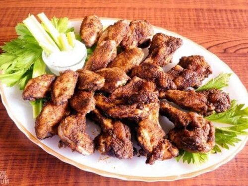 Easy Dry Rub Chicken Wings In Oven Or Air Fryer Low Carb Yum