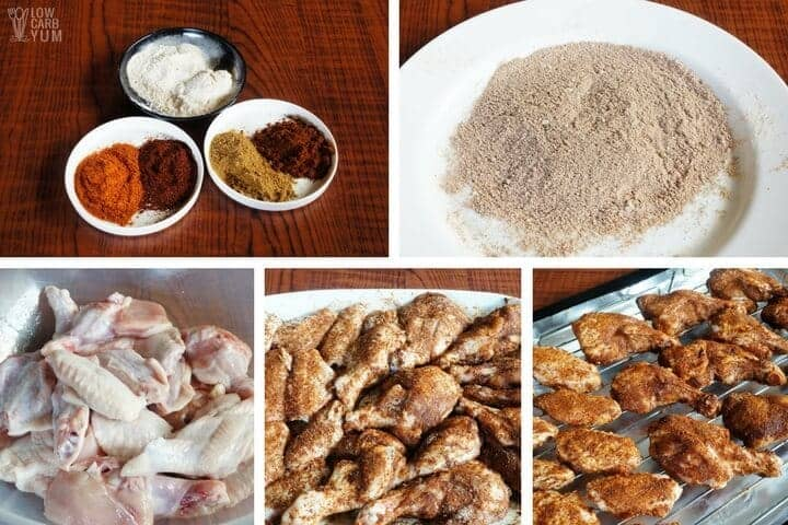 How to make oven baked dry rub chicken wings