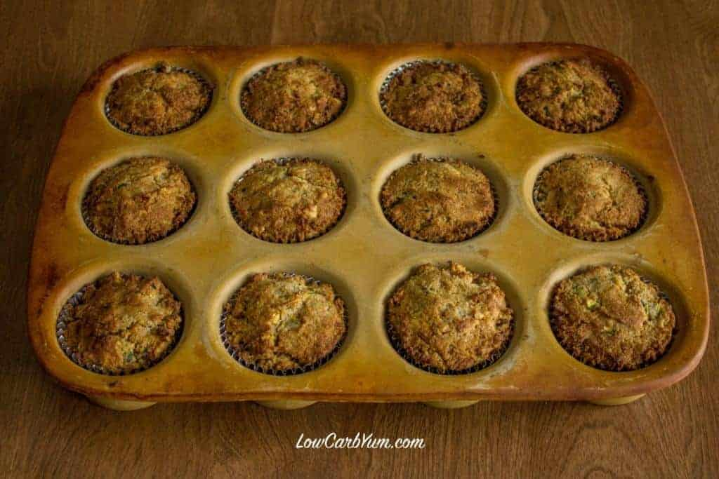 gluten free low carb zucchini cupcakes baked