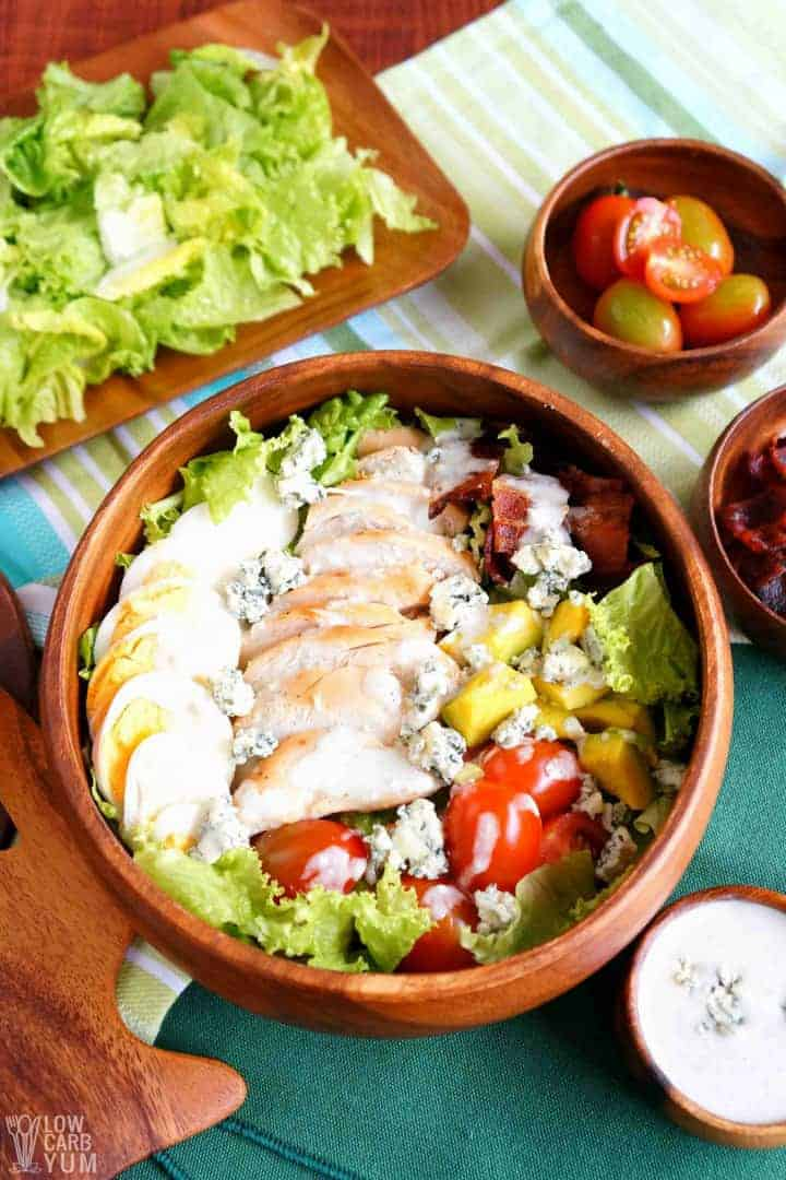 Making a healthy cobb salad recipe for one or two people