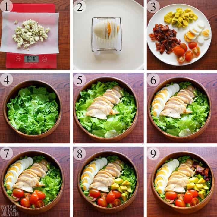 How to make a healthy Cobb salad recipe