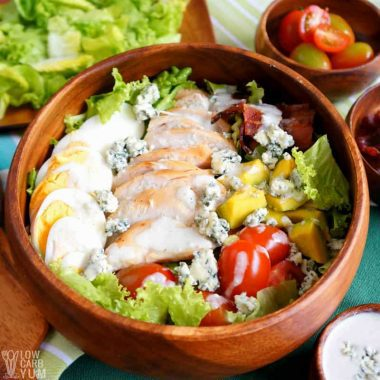 Healthy Cobb Salad Recipe with Chicken (Keto, Low Carb)