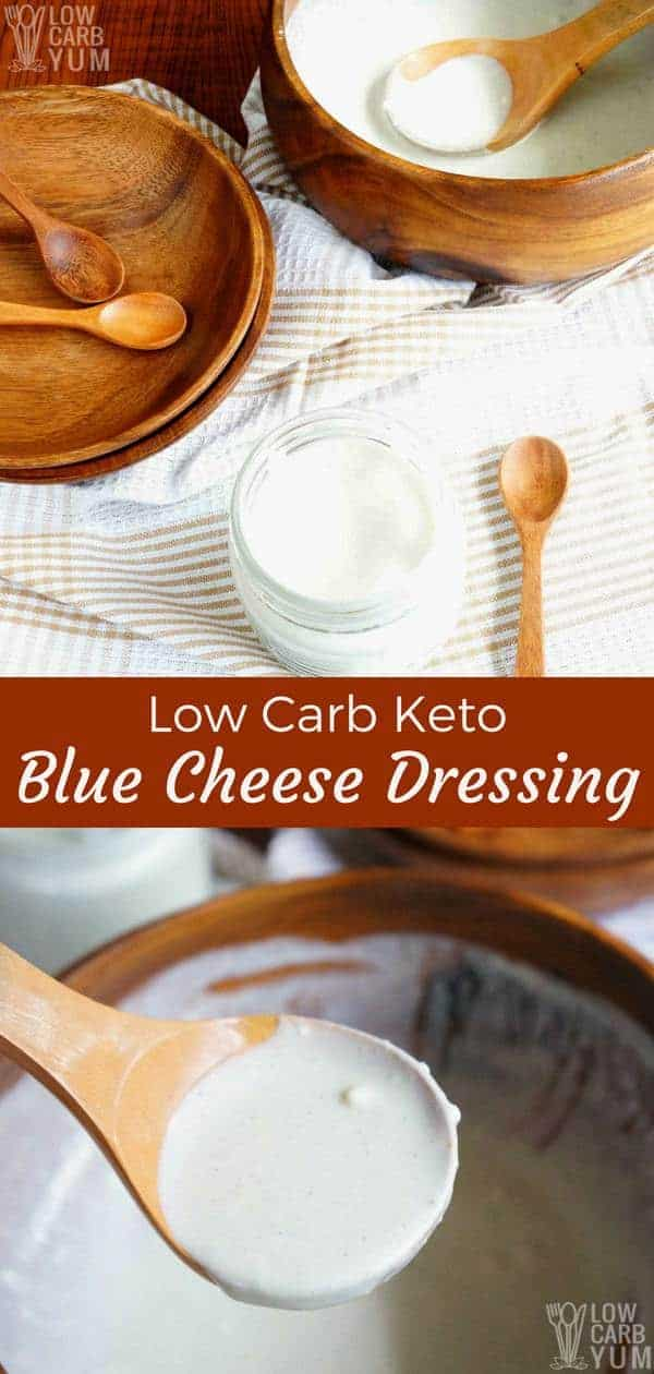 Low carb keto blue cheese dressing