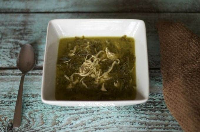 low carb high fat chicken kale soup recipe