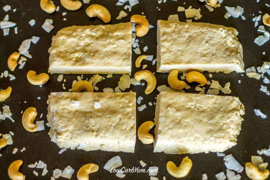 ow carb coconut cashew quest bar recipe
