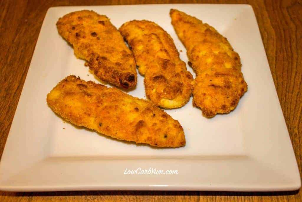 Low carb gluten free paleo coconut flour baked chicken tenders recipe