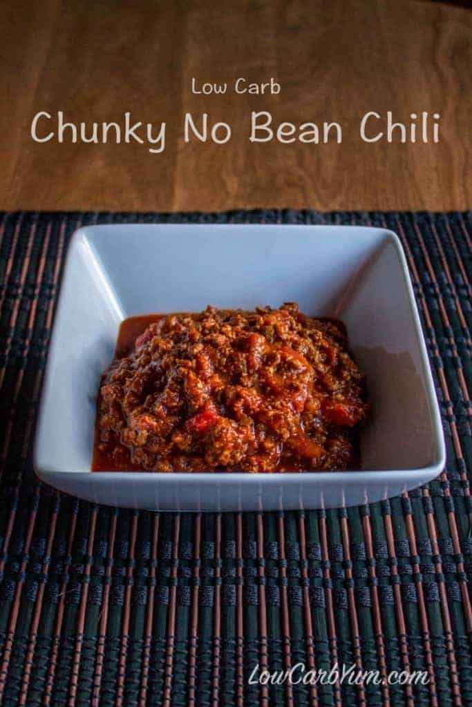 low carb no bean chili recipe